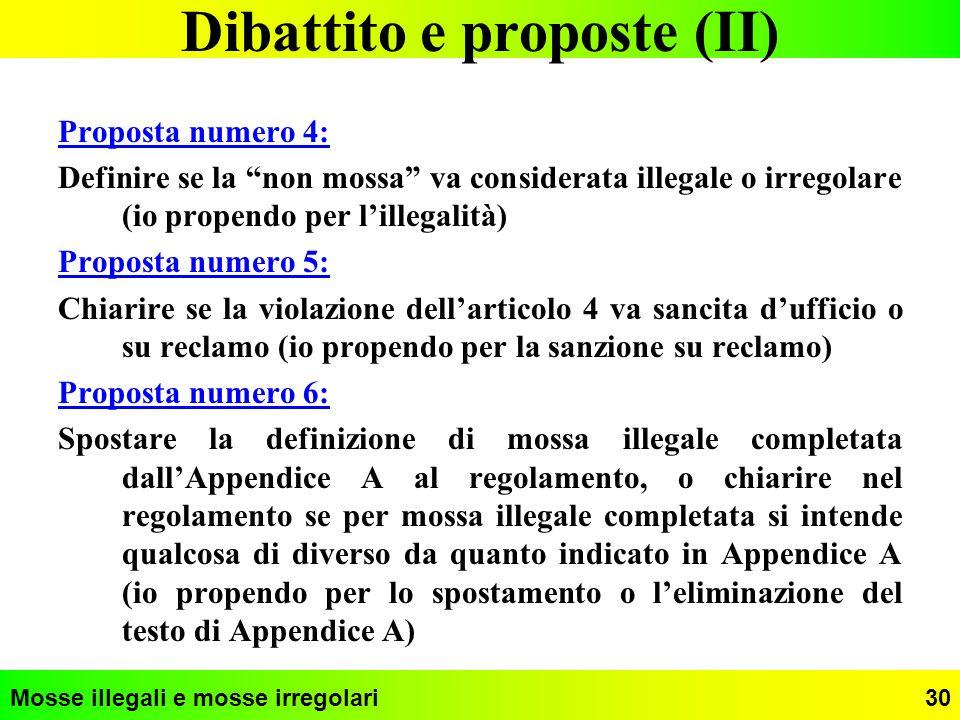 Dibattito e proposte (II)