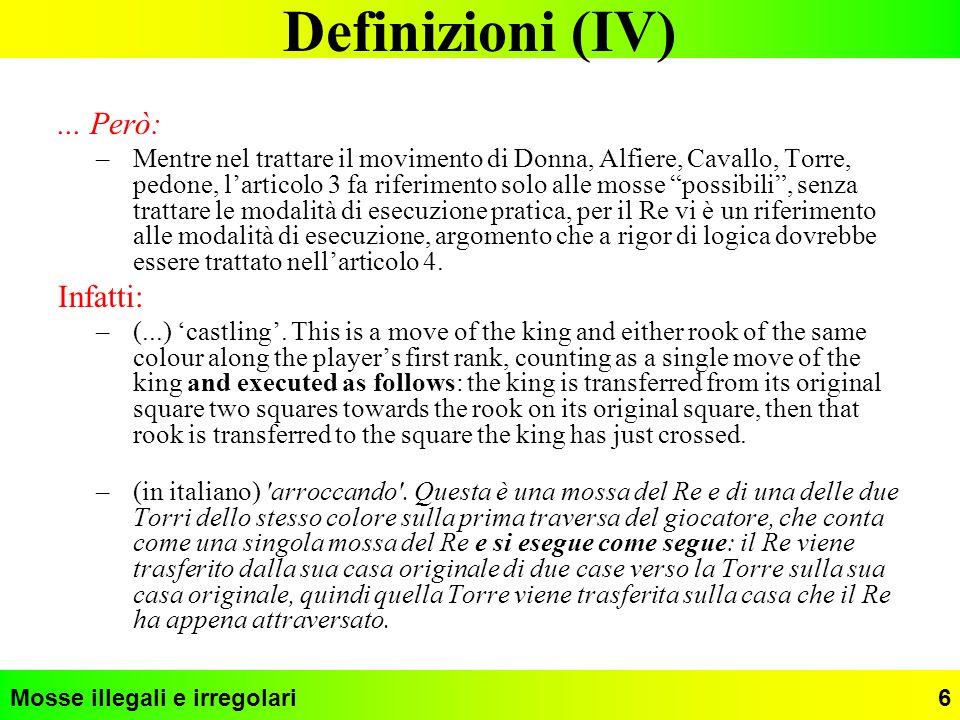 Definizioni (IV) ... Però: Infatti: