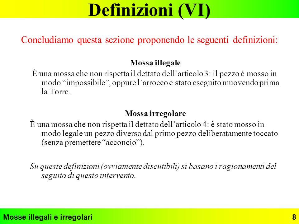 Concludiamo questa sezione proponendo le seguenti definizioni: