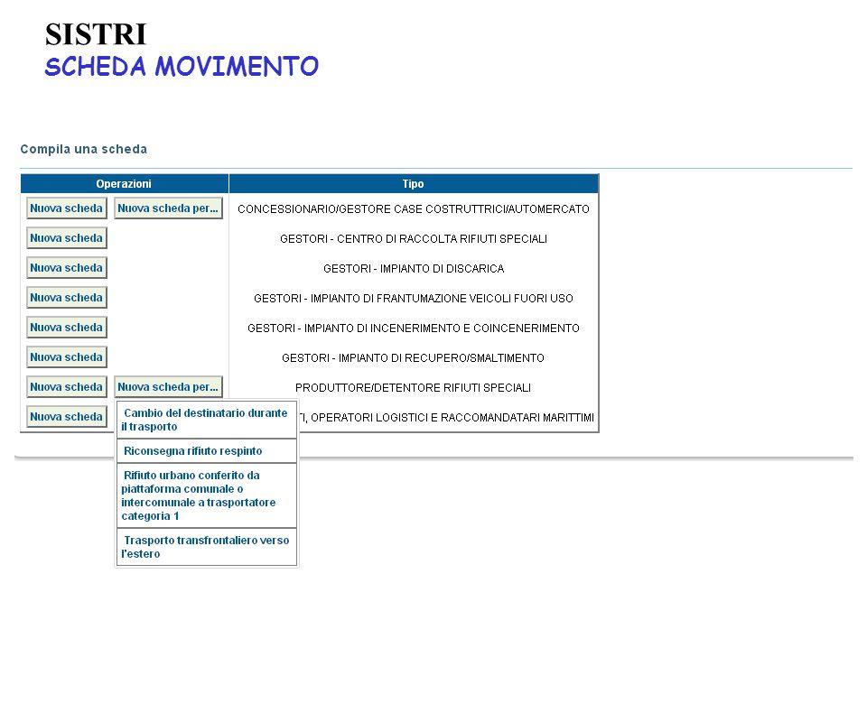 SISTRI SCHEDA MOVIMENTO 54
