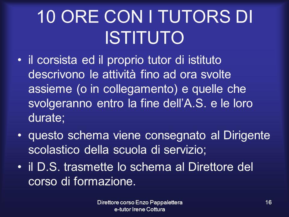 10 ORE CON I TUTORS DI ISTITUTO