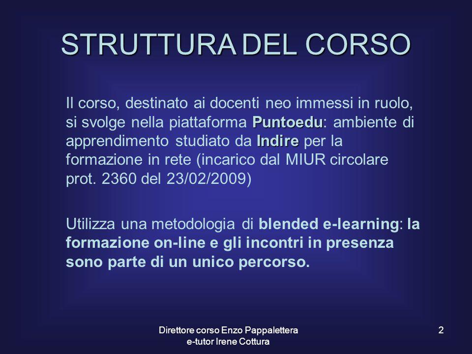 Direttore corso Enzo Pappalettera e-tutor Irene Cottura