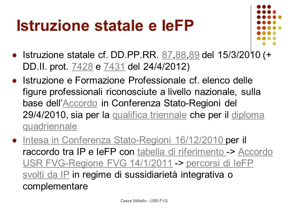 Istruzione statale e IeFP