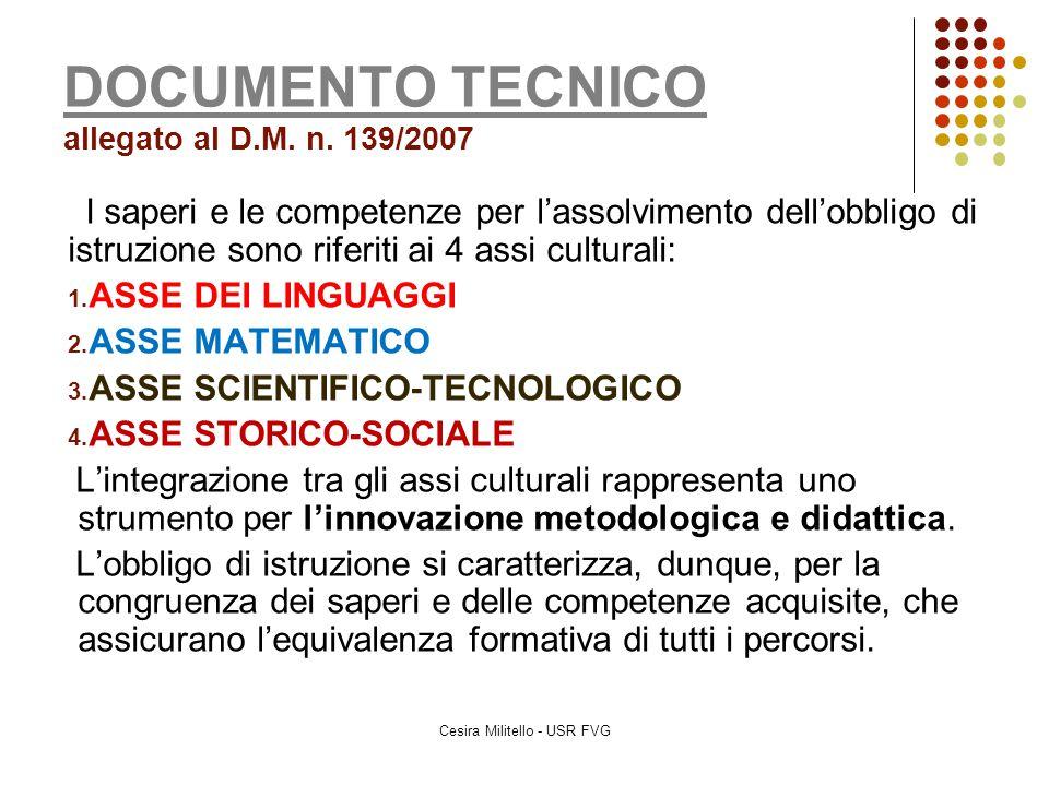 DOCUMENTO TECNICO allegato al D.M. n. 139/2007