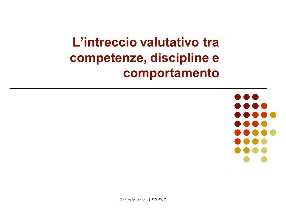 L'intreccio valutativo tra competenze, discipline e comportamento