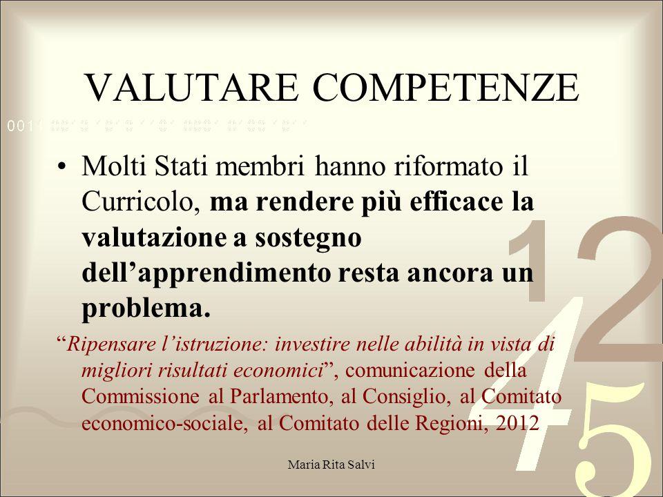VALUTARE COMPETENZE