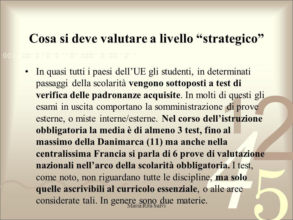 Cosa si deve valutare a livello strategico