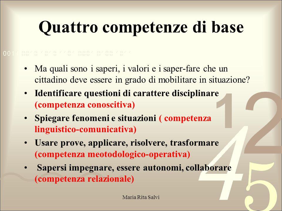 Quattro competenze di base
