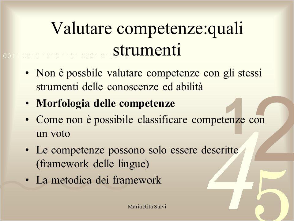 Valutare competenze:quali strumenti
