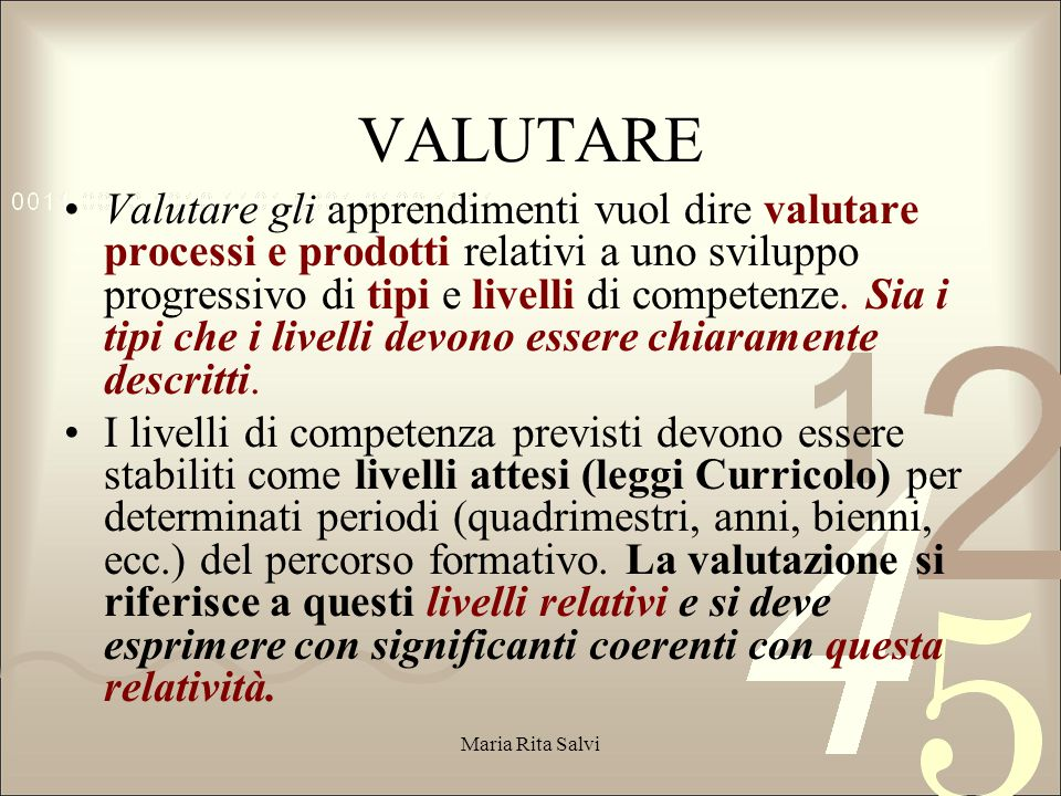 VALUTARE