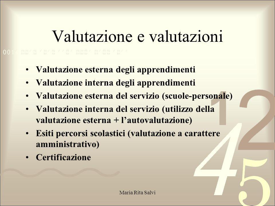 Valutazione e valutazioni