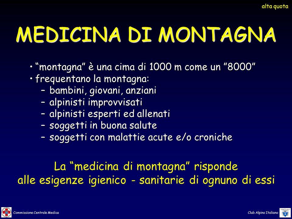 MEDICINA DI MONTAGNA La medicina di montagna risponde