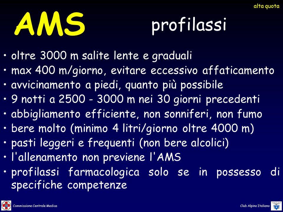 AMS profilassi oltre 3000 m salite lente e graduali