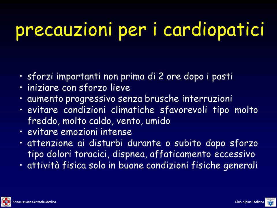 precauzioni per i cardiopatici