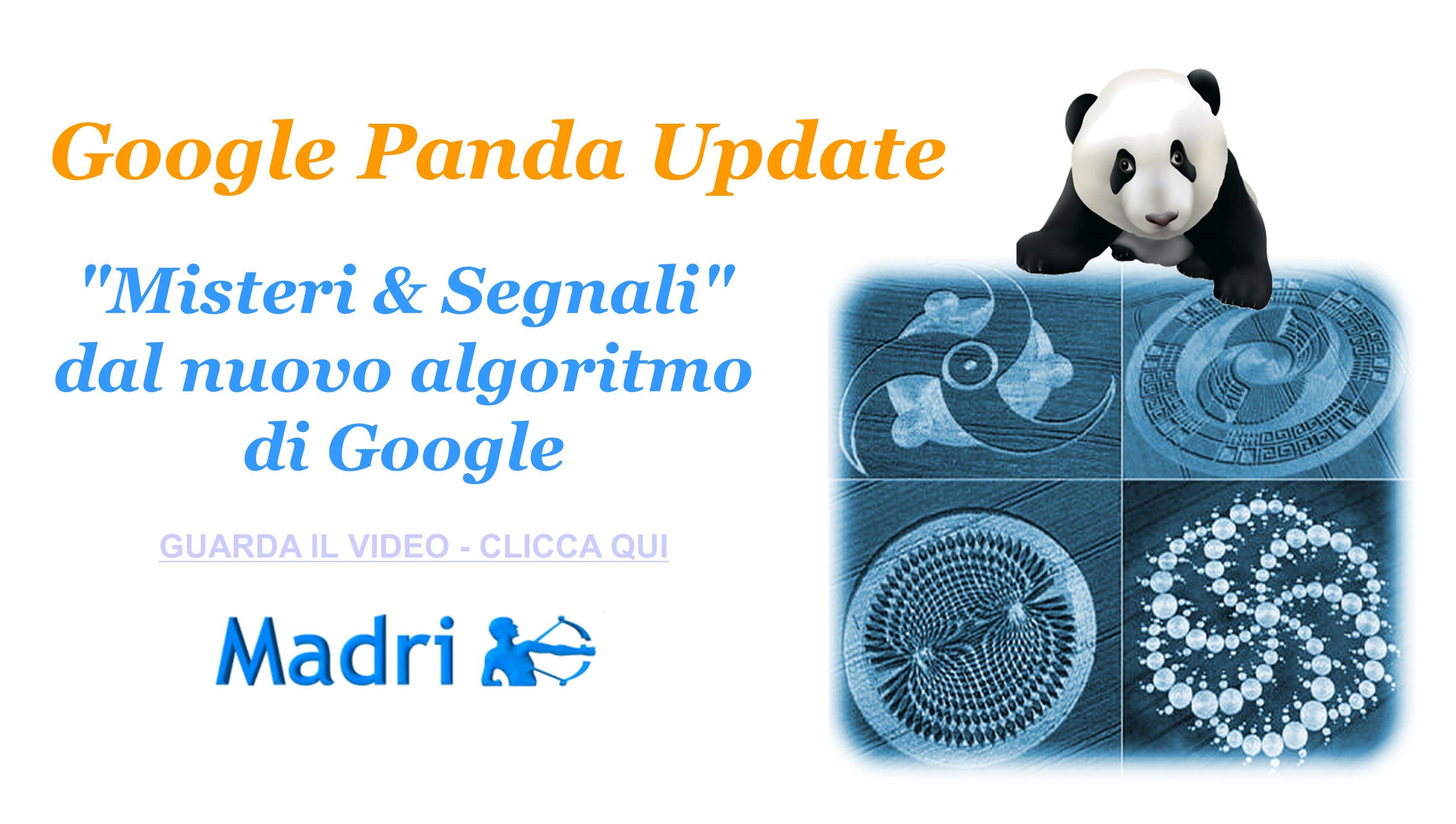 Google Panda Update Misteri & Segnali dal nuovo algoritmo di Google