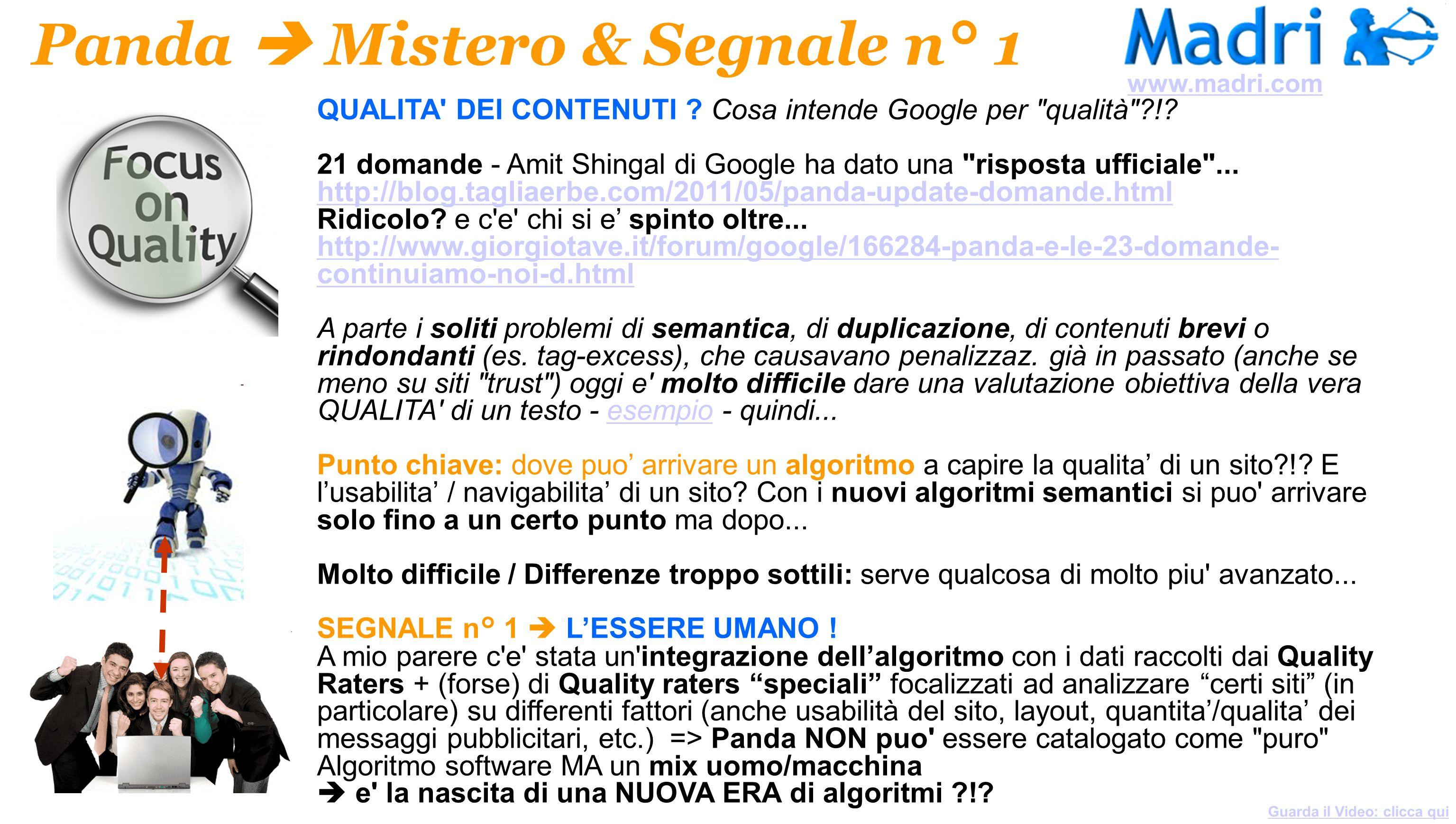 Panda  Mistero & Segnale n° 1