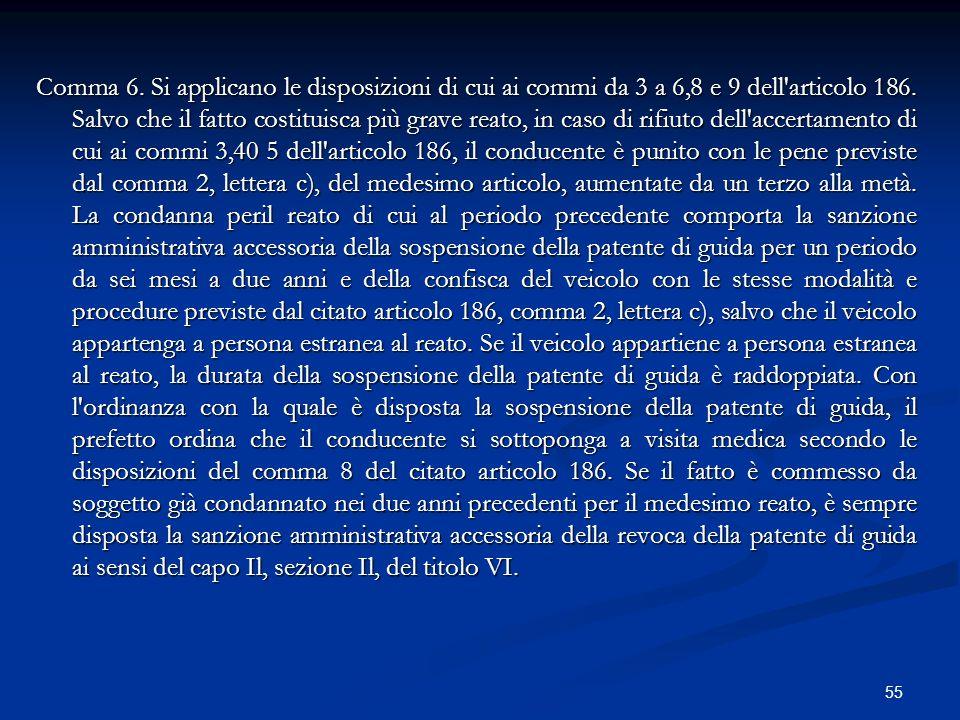 Comma 6. Si applicano le disposizioni di cui ai commi da 3 a 6,8 e 9 dell articolo 186.