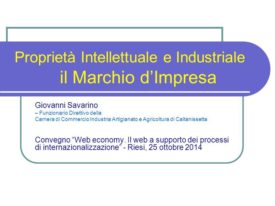 Proprietà Intellettuale e Industriale il Marchio d'Impresa