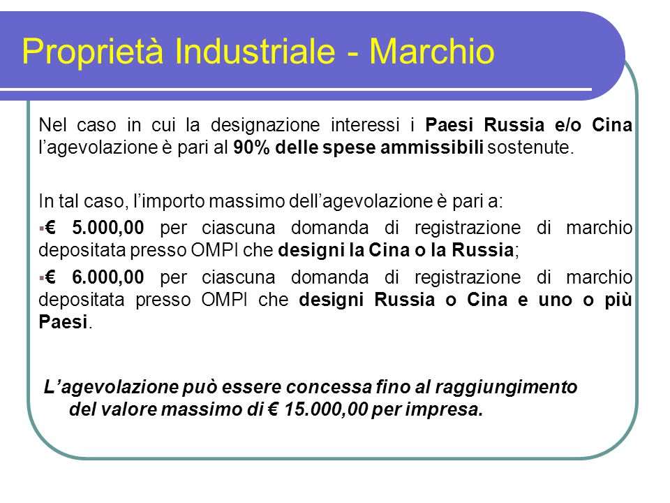 Proprietà Industriale - Marchio
