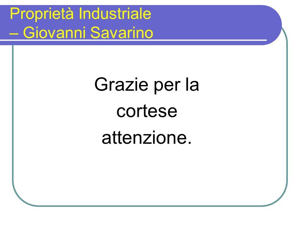 Proprietà Industriale – Giovanni Savarino