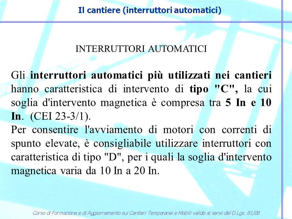 Il cantiere (interruttori automatici)