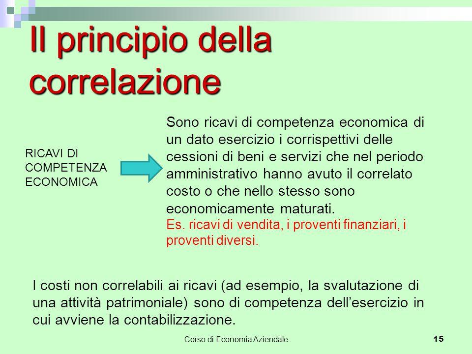 Il principio della correlazione