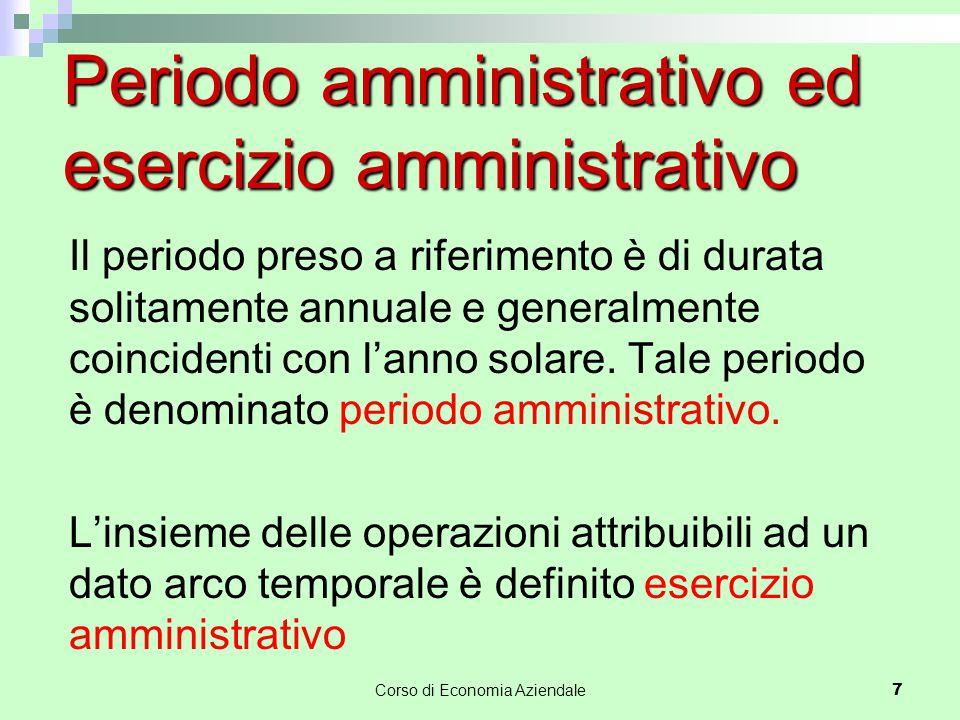 Periodo amministrativo ed esercizio amministrativo