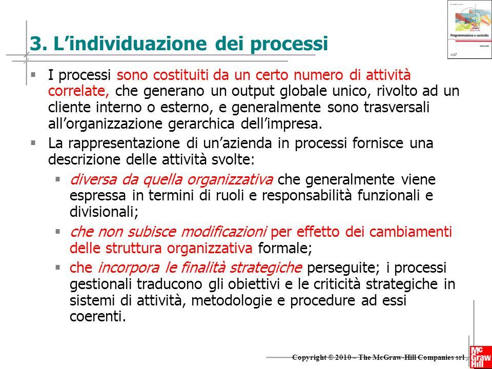 3. L'individuazione dei processi