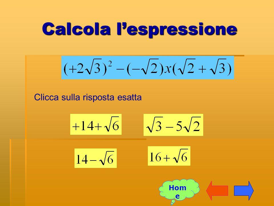 Calcola l'espressione