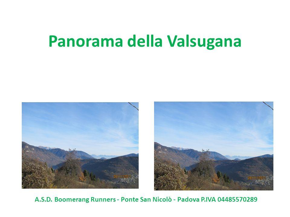 Panorama della Valsugana