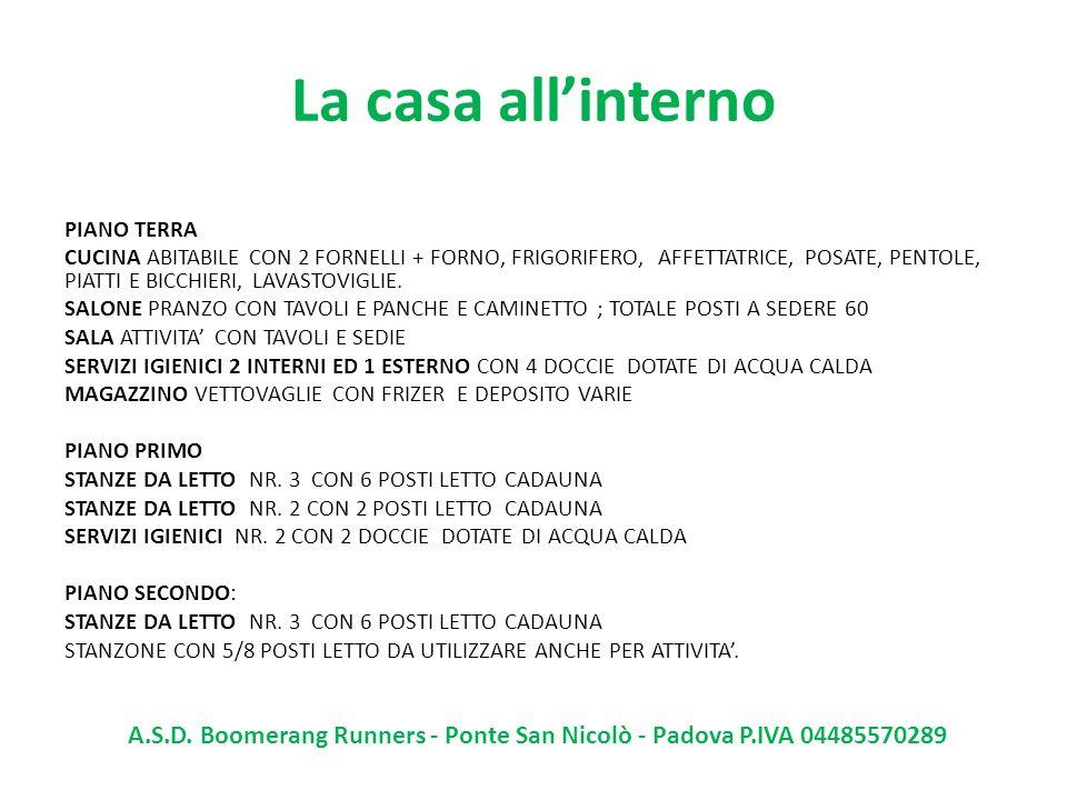 A.S.D. Boomerang Runners - Ponte San Nicolò - Padova P.IVA 04485570289
