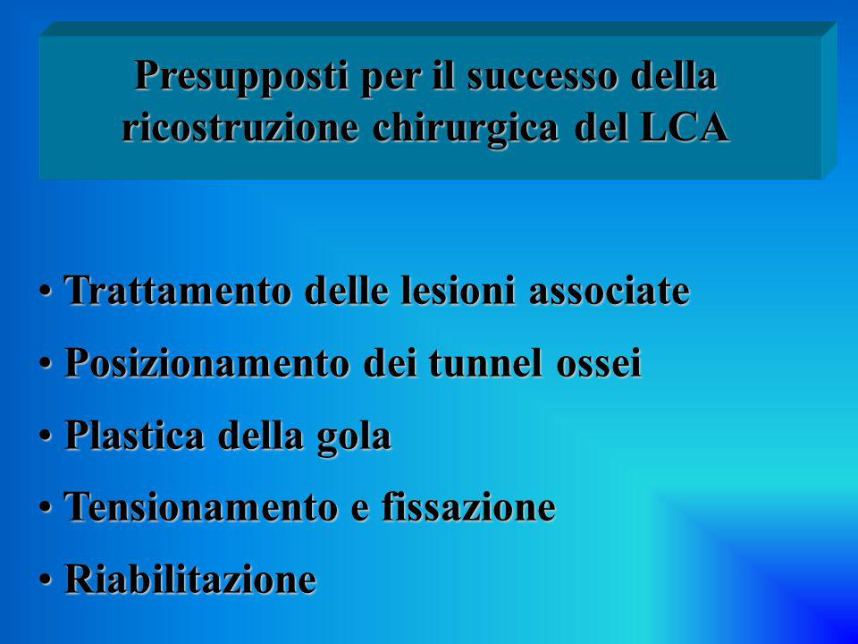 Presupposti per il successo della ricostruzione chirurgica del LCA
