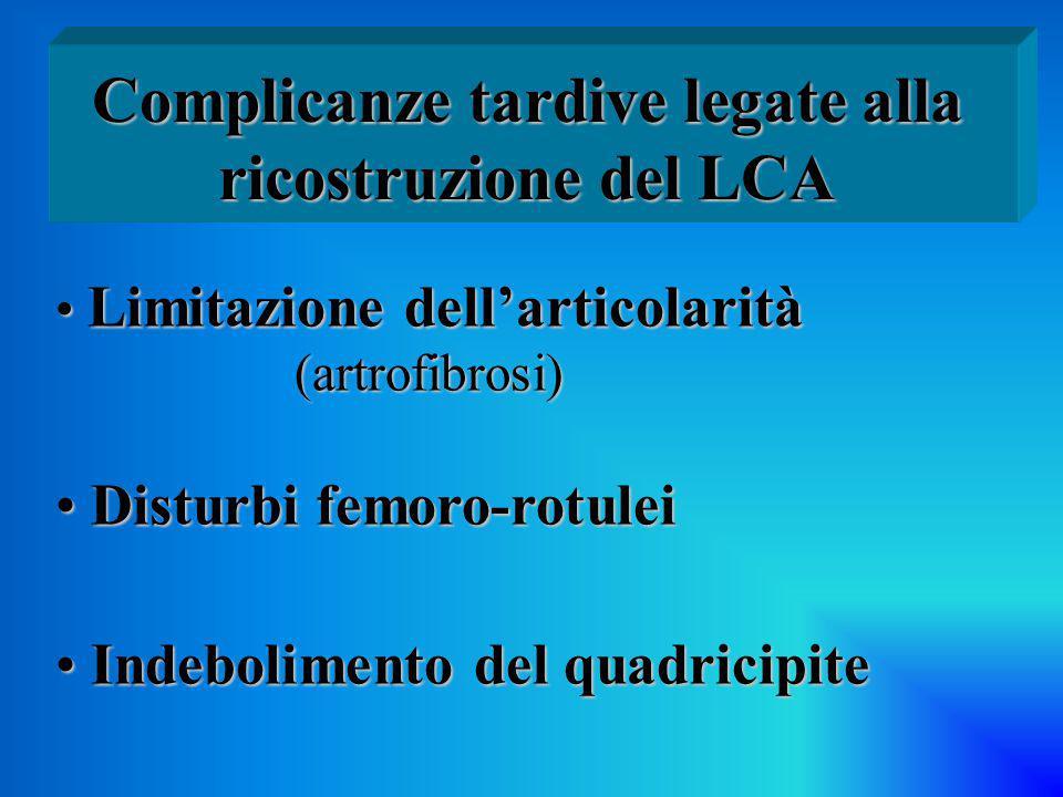Complicanze tardive legate alla ricostruzione del LCA