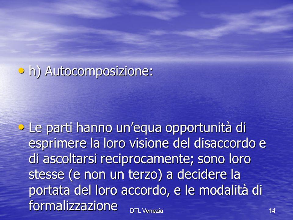 h) Autocomposizione: