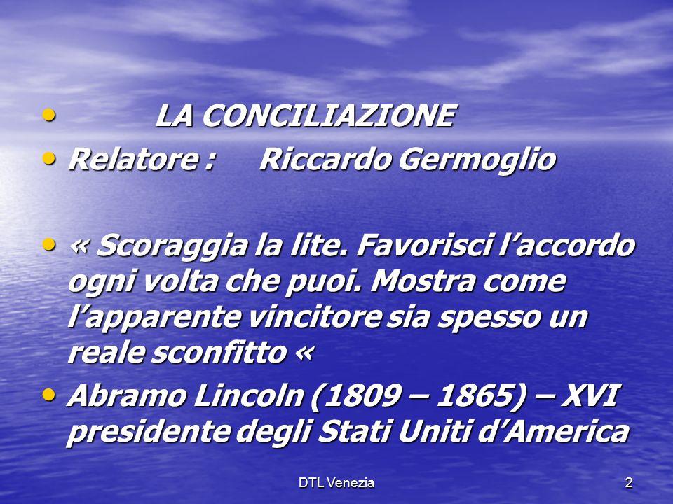 Relatore : Riccardo Germoglio