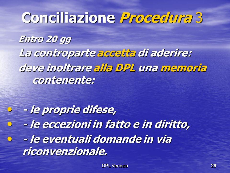 Conciliazione Procedura 3
