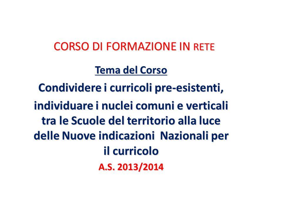 CORSO DI FORMAZIONE IN RETE