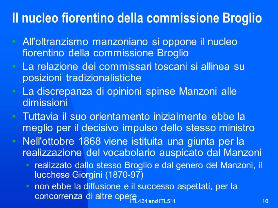 Il nucleo fiorentino della commissione Broglio