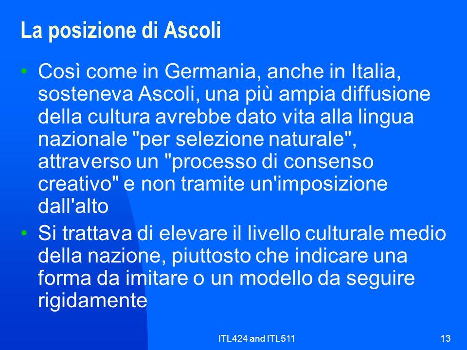 La posizione di Ascoli