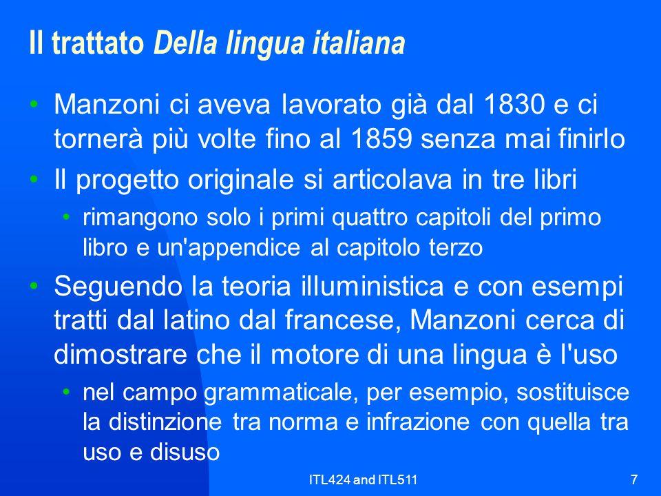 Il trattato Della lingua italiana