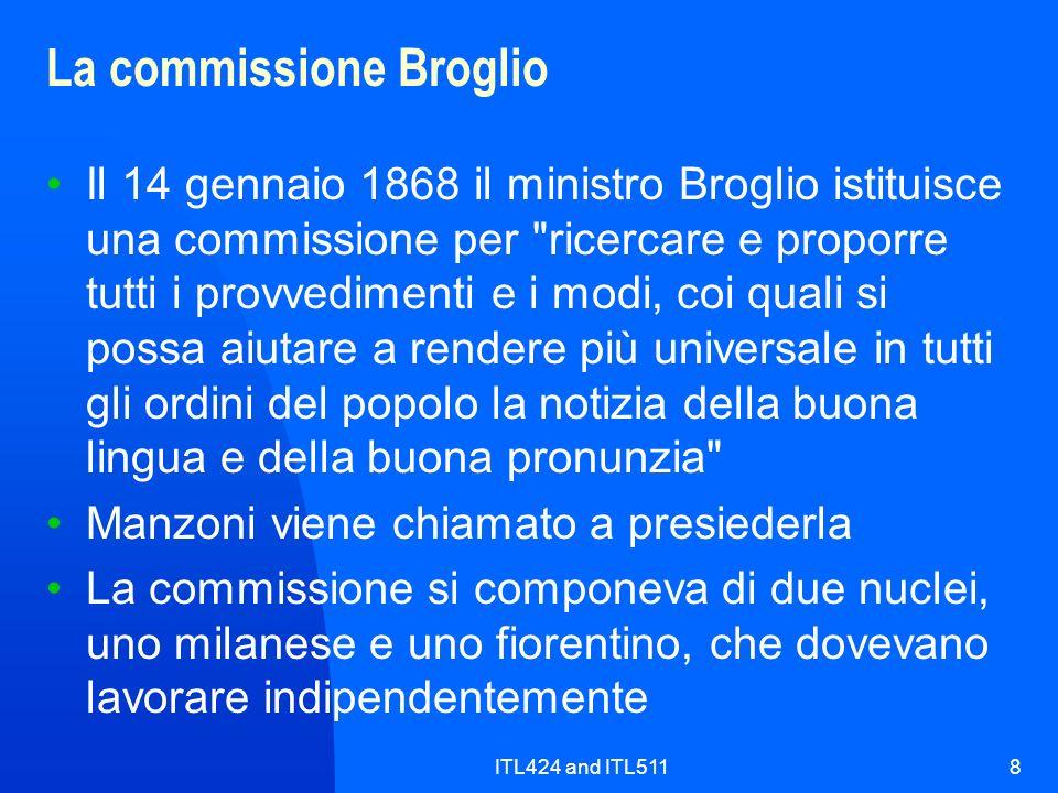 La commissione Broglio