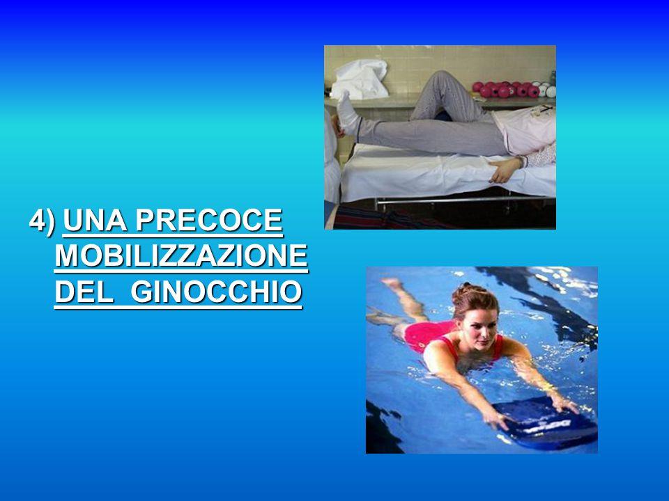 4) UNA PRECOCE MOBILIZZAZIONE DEL GINOCCHIO