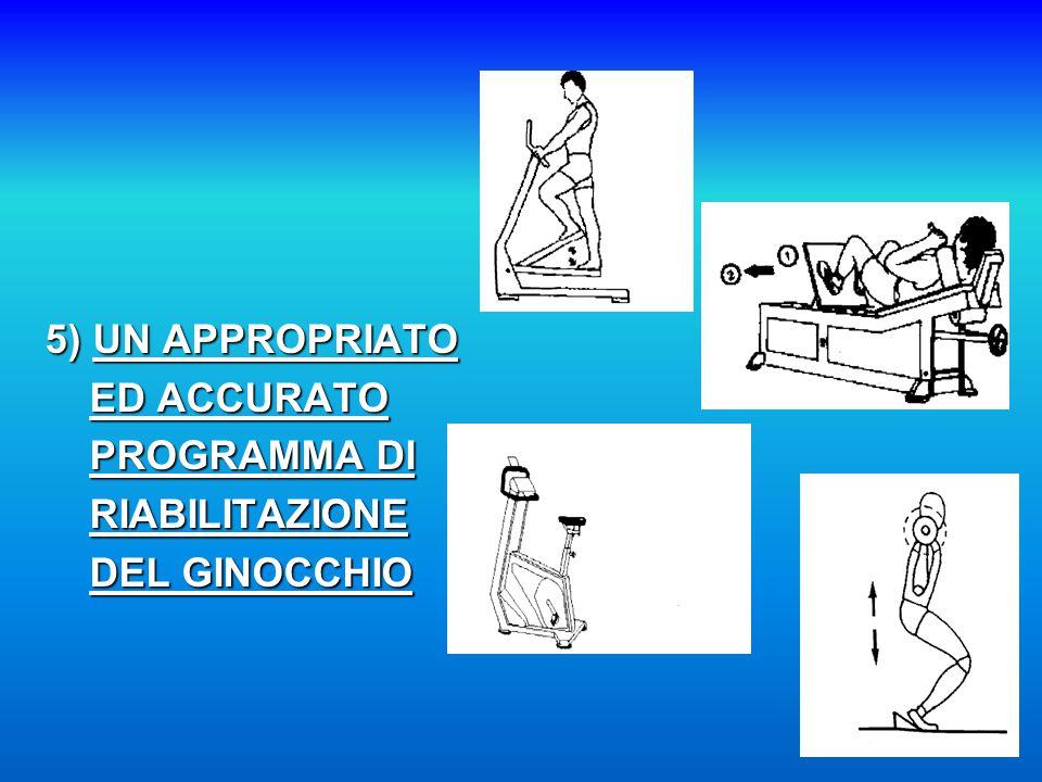 5) UN APPROPRIATO ED ACCURATO PROGRAMMA DI RIABILITAZIONE DEL GINOCCHIO