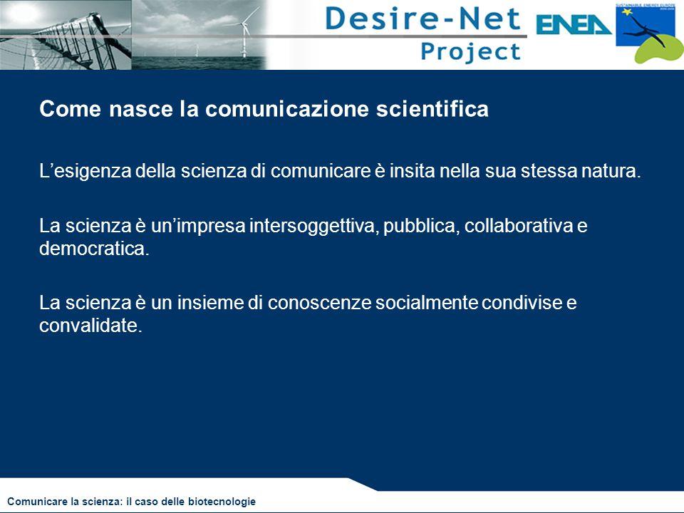 Come nasce la comunicazione scientifica