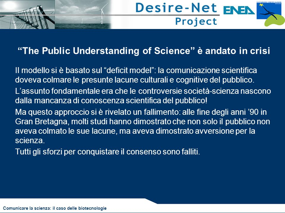 The Public Understanding of Science è andato in crisi