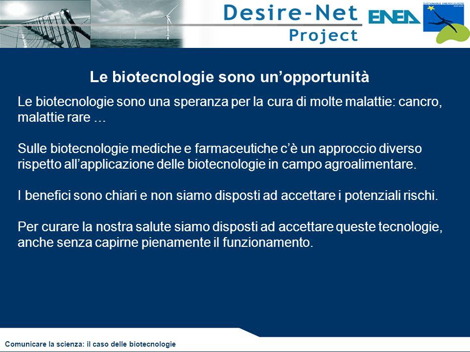 Le biotecnologie sono un'opportunità