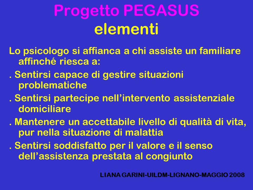 Progetto PEGASUS elementi