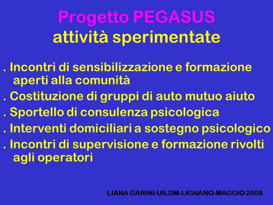 Progetto PEGASUS attività sperimentate