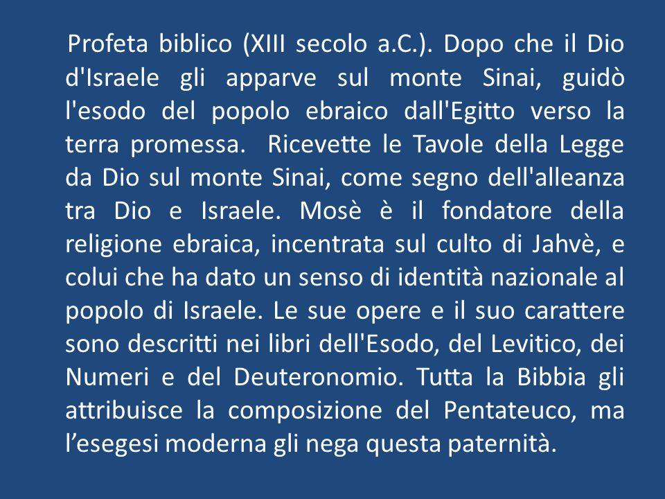 Profeta biblico (XIII secolo a. C. )