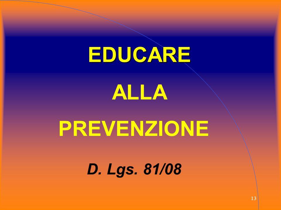 EDUCARE ALLA PREVENZIONE